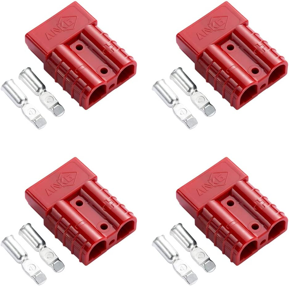 ANKG 2 Pairs 4Pcs trend rank Battery Power Connector 50 Raleigh Mall 600V Kit Amps RE