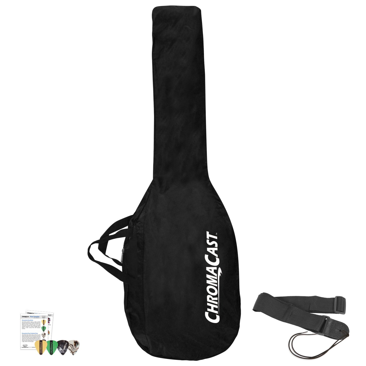 Cheap ChromaCast JB-E-NYLON-P Water Resistant Nylon Electric Guitar Bag and Strap with 4 Pick Sampler Black Friday & Cyber Monday 2019