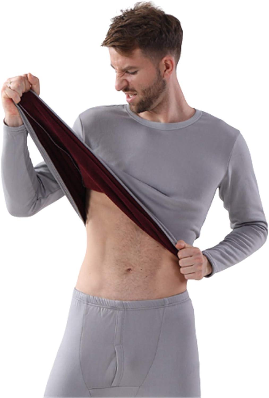 EverNight Men's Lightweight Thermal Underwear Set,Wicking Winter Sports Suits Long Sleeve Tops Warm Bottoms,3,XL