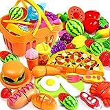 BYFRI 13pcs Juguetes De La Cocina De Corte Juguetes De Imaginación De Frutas De Comida De Juguete Juguetes Educativos para Chicos, Chicas Niños