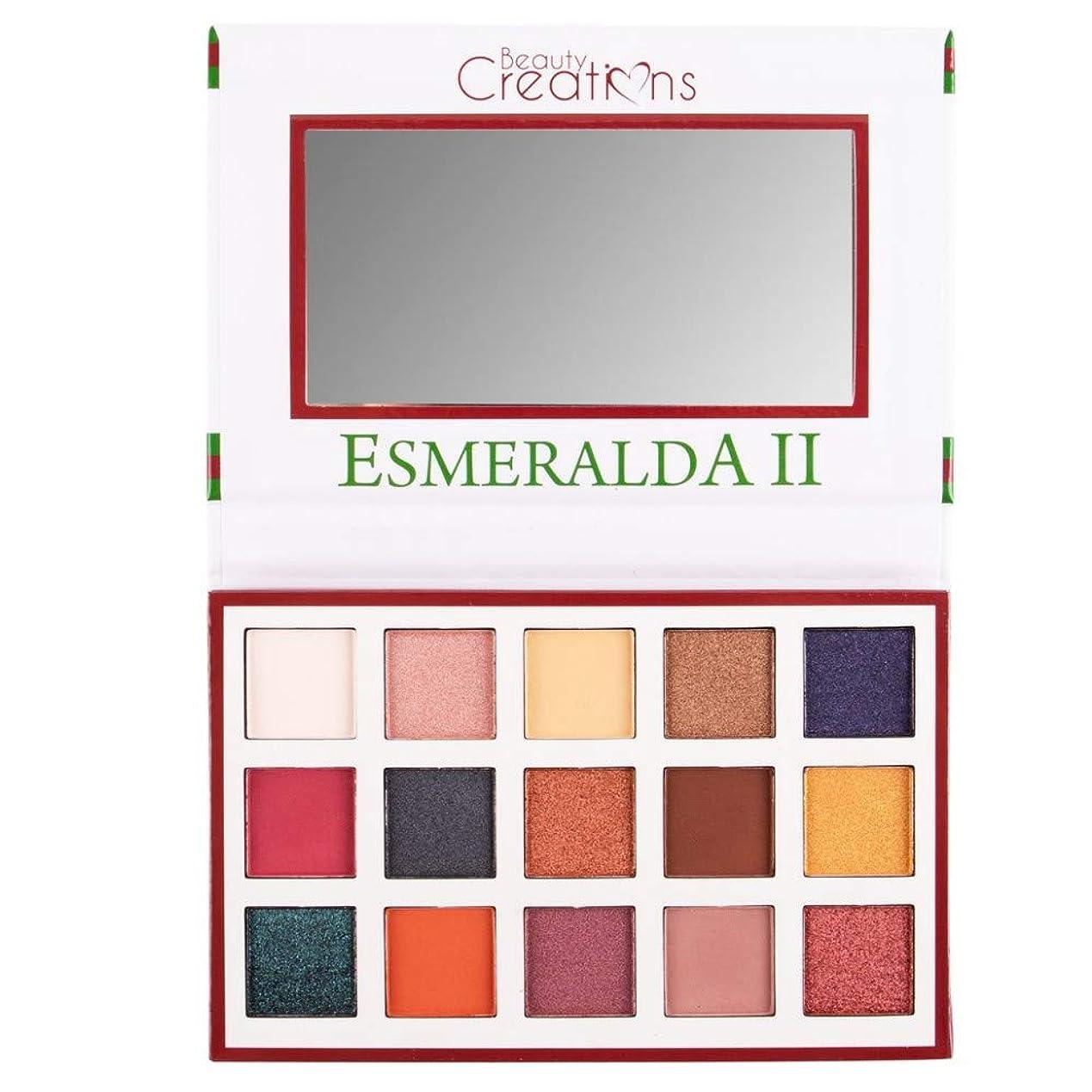 符号処方する高尚な(3 Pack) BEAUTY CREATIONS Esmeralda II 15 Color Eyeshadow Palette (並行輸入品)