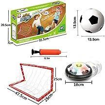 Set de fútbol recargable Air Soccer Hover con objetivo de fútbol para interior flotante con luz LED Perfect Time Killer para niños y niñas B.