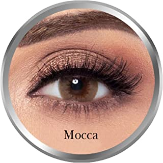 Amara Mocca Contact Lenses, Original Unisex Amara Cosmetic Contact Lenses, Monthly Disposable, Mocca Color