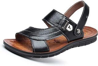 ea743dab2133f2 EGS-Shoes Slip on Style en Cuir Véritable Metaldecor Semelle Extérieure  Casual Léger Flexible Sandales