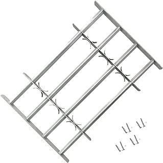vidaXL Reja de Seguridad para Ventanas Ajustable con 4 Travesaños 700-1050 mm