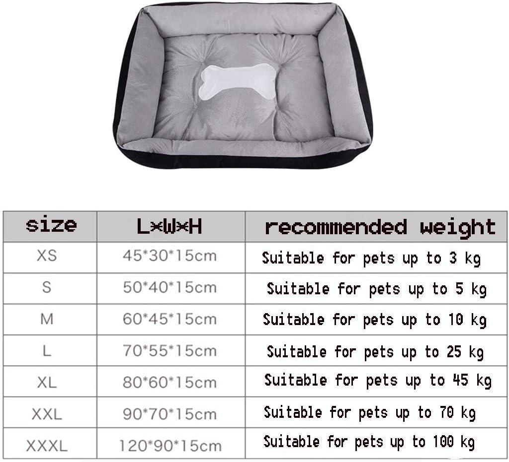 YUMUO Super Soft Pet House Peluche pour Animaux de Compagnie avec rotin Universel Quatre Saisons - Choix de Taille (Couleur: 4, Taille: XL) 26