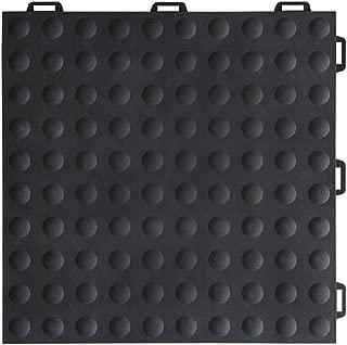 Greatmats StayLock Bump Top Floor Tile 1x1 Ft x .5 Inch for Home Gym Flooring, Aerobic, Anti-Fatigue Commercial Waterproof Flooring Tiles, Athletic Floors, 26 Pack (Black)