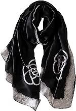 K T One Womens Lightweight Silk Scarf Long Satin Designer Shawl Wrap Printed Scarves
