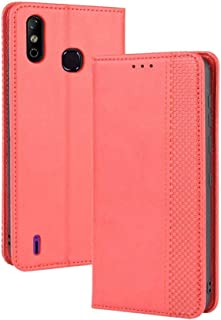 Case for Infinix Smart 4,Leather Stand Wallet Flip Case Cover for Infinix Smart 4,Retro magnetic Phone shell,Wallet phone ...