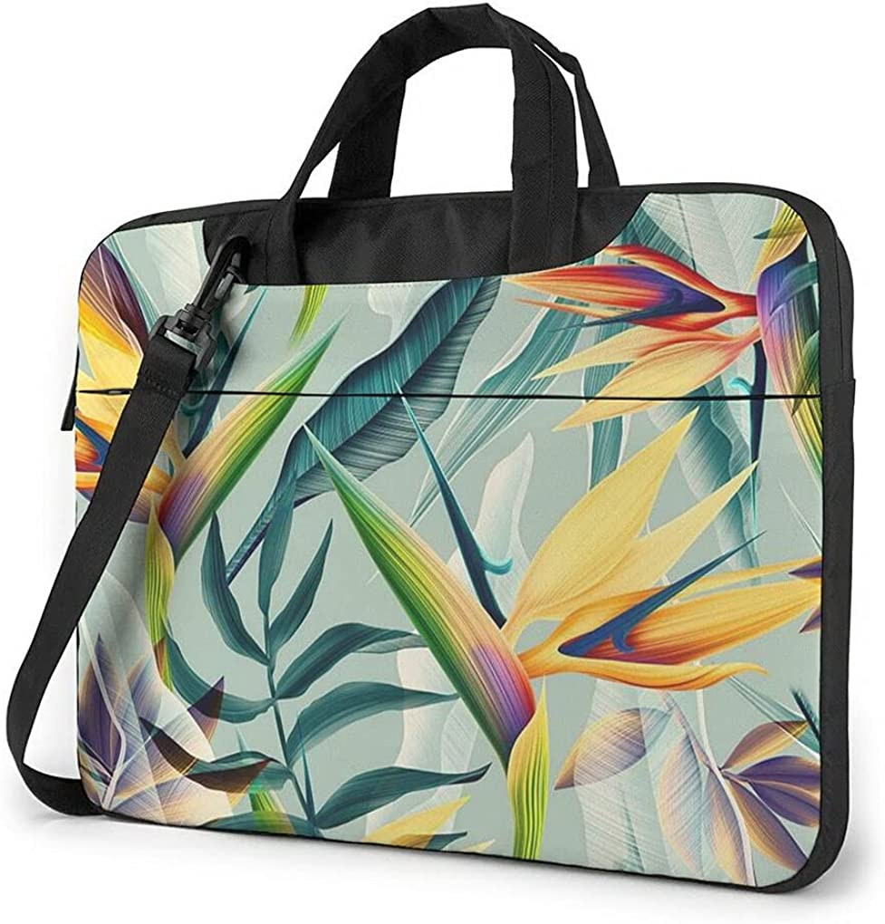 Tulip Purple Flower Direct stock discount Laptop Spring new work Messenger Table Carrying Bag Case For