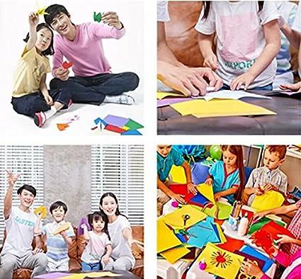 BJ-SHOP Origami,Papel Origami 100 Hojas de Doble Cara 10CM de Papel para Decoracion de Fiesta de Inicio de Juguete de los ninos
