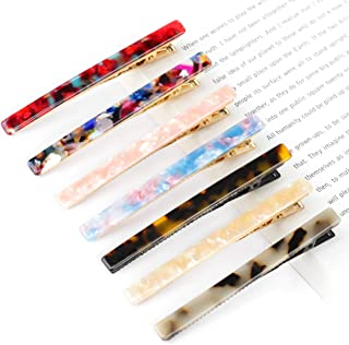 Acrylic Resin Hair Barrettes, 7pcs Hair Clips Geometric Rectangle Alligator Hairpins Women Hair Accessories for Birthday Christmas Valentine's Day Gifts
