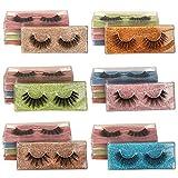 Ruairie False Eyelashes Natural Fluffy 3D Fake Eyelashes Pack 30 Pairs 6 Styles Faux Mink Lashes Wholesale Bulk