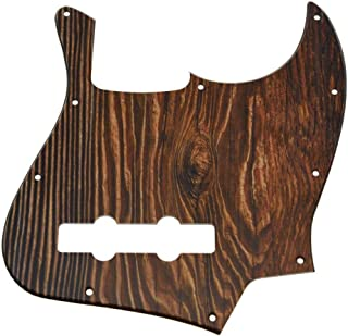 Dopro Jazz Bass 3D Printed plastic pickguard fits USA/Mexican 4 String Fender Jazz Bass Wood Pattern