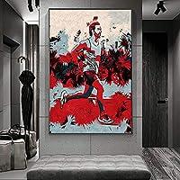 ランニングマンアートワークウォールアートキャンバス絵画ポスターとプリントリビングルームオフィス装飾絵画家の装飾キャンバスプリント