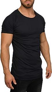 QULAXITY XVI Men's Oversize Rolled Hem T-Shirt