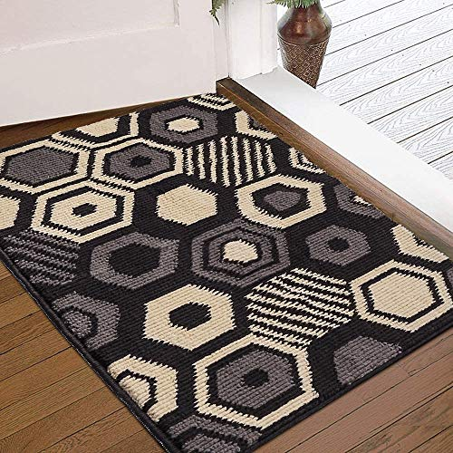 "Color&Geometry Indoor Doormat, Outdoor Indoor Mat 32""x20"", Waterproof, Non Slip Washable Quickly Absorb Moisture and Resist Dirt Rugs"