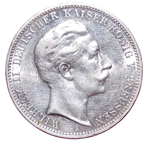 orig. Silbermünze 3 Mark 1912 A - Silber Münze in ss/vz - Kaiser Wilhelm II. Preussen