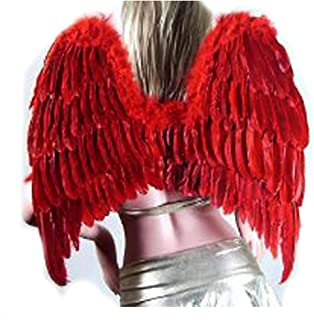 SACASUSA (TM) Large Feather Fairy Angel Wings 3 colors Black, White or Red