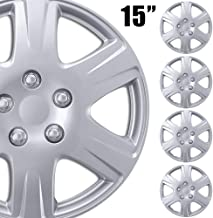 """Best BDK (4-Pack Premium 15"""""""" Wheel Rim Cover Hubcaps OEM Style Replacement Snap On Car Truck SUV Hub Cap - 15 Inch Set, 6 Style Spoke (KT-993-15_df2) Review"""