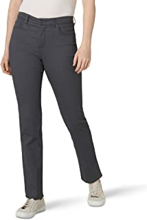 Lee Uniforms Women's Instantly Slims Classic Relaxed Fit Monroe Straight Leg Jean