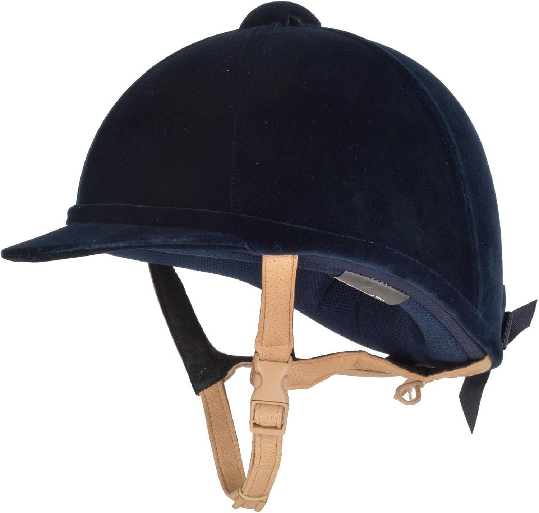 Charles Owen Hampton Velvet Hat 58cm Black Flesh