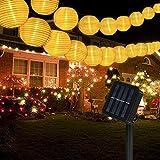 Vivibel Solar Lampions Lichterkette Außen 8 Meter 40 LED Lampions 2 Modi IP 65 Wasserdicht Solar...