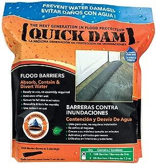 Quick Dam Flood Barriers, 120inLx6-1/2inW, 64lb, Blk