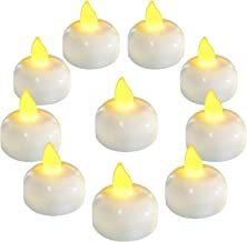 Homemory 24PCS Waterproof LED Lights LED Flameless Flickering Tealight Candles Battery Operated for Wedding, Party, Bathro...