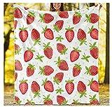 XZDPPTBLN Mantas de Franela Súper Suave de Lana Fresa de Frutos Rojos Mantas con Estampados Esponjosa y Cálida Mantas para la Cama y el Sofá 70cm x 100cm