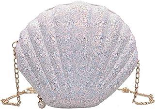 YEBIRAL Umhängetasche Damen Handtasche Frauen Mädchen Mode Handtaschen Schultertasche Muscheltasche Kette Schulter Messeng...