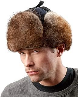 mens muskrat fur hat