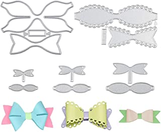 5 Set Bow Tie Cutting Dies, Bows Die Stencil Die Cuts for Card Making DIY Bow Craft and Gift Wrapping