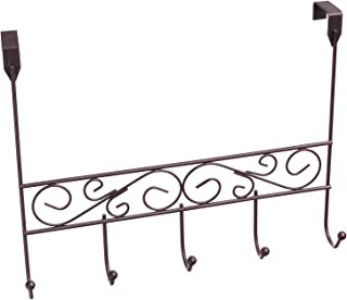 Inspired Living by Mesa Inspired Living Over The Door Hanger 5 Organizer in Oil Rubbed Bronze Spiral Collection utility-hooks,