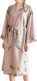 Chaos World Women's Kimono Robes Printed Long Dressing Gown Spa Bathrobe Long Sleeve