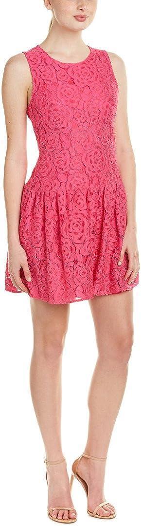CeCe by Cynthia Steffe Women's Vika Sleeveless Rose Lace Dropwaist Dress