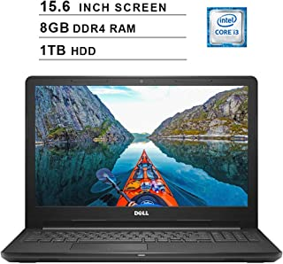 Dell 2019 Inspiron 15 3000 i3576 15.6 Inch HD Laptop (Intel Core i3-8130U 3.40 GHz, 8GB DDR4 RAM, 1TB HDD, Bluetooth, WiFi, Windows 10, Black) (Renewed)