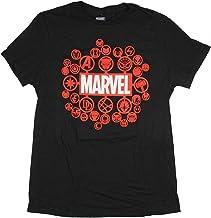Marvel Shirt Men's All Character Logos Brainstorm Design Licensed T-Shirt