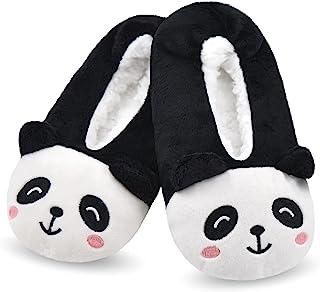 Sponsored Ad - DICUIRD Kid's Animal Slipper Socks, Cartoon Cozy Fleece Indoor Kids Slipper, Fluzzy Warm Bedroom Shoes