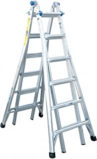 26 ft. Aluminum Multipurpose Ladder, 300 lb. Load Capacity, 62.5 lb. Net Weight