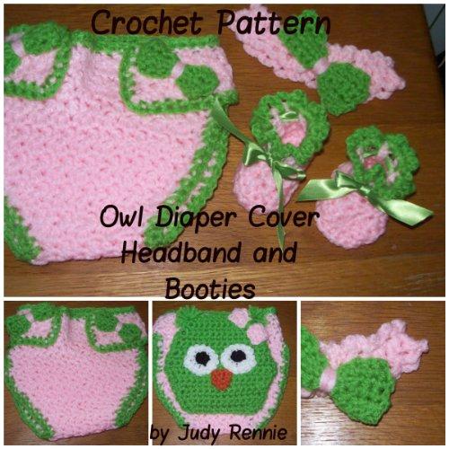 Crochet Pattern - Owl Diaper Cover S