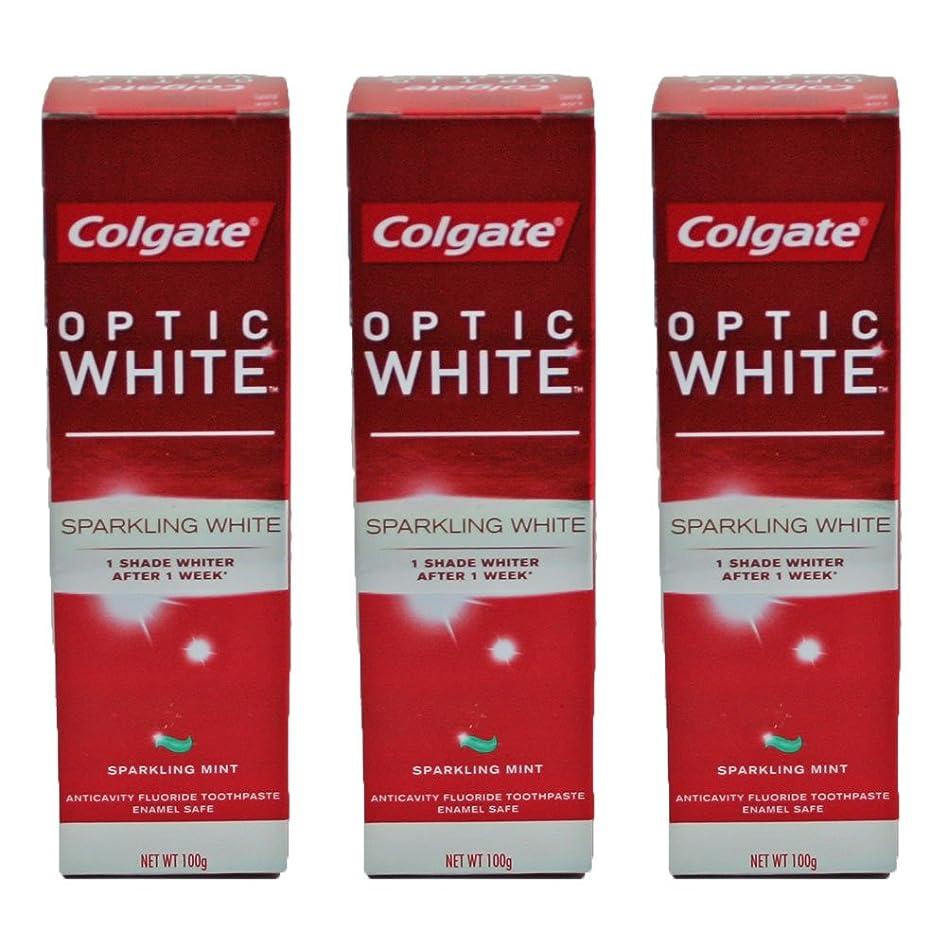 ファイターグラス回復コールゲート オプティック ホワイト スパークリングシャイン 100g 3個セット [並行輸入品]