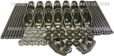 Self Aligning Rocker Arms & Pushrod Set compatible with 1968-96 Chevy Small Block 350 305 265