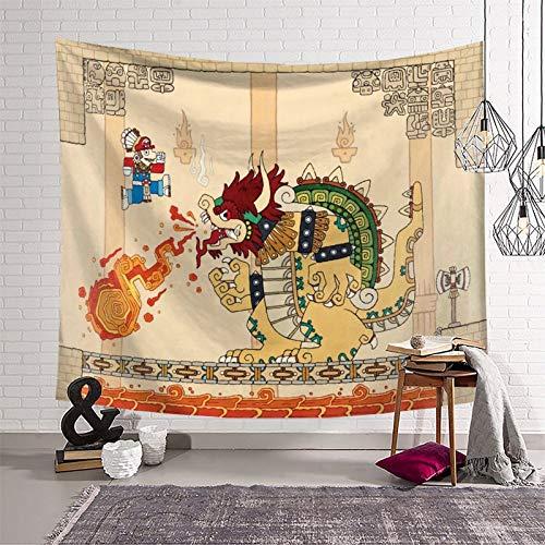 Wandteppich Super Mario für Schlafzimmer, Wohnzimmer, Wandbehang (130 x 150 cm)