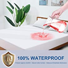 BedStory Waterproof Mattress Protector Queen Size, Organic Cotton Breathable Mattress Pad Cover, 10 Years Warranty,Bed Mattress Protector