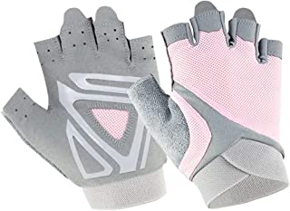 Half finger Fitness Gloves Silicone Anti-slip Breathable Workout Gloves for Girls Women