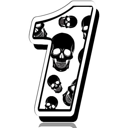 Biomar Labs Startnummer Nummern Auto Moto Vinyl Aufkleber Sticker Skull Schädel Totenkopf Motorrad Motocross Motorsport Racing Nummer Tuning 1 N 331 Auto