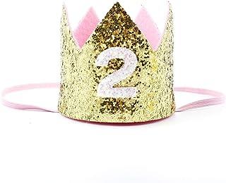 boastvi Sombrero De Cumpleaños Corona Sombrero Hecho A Mano Brillo Bebé Niño Niña 1 Año De
