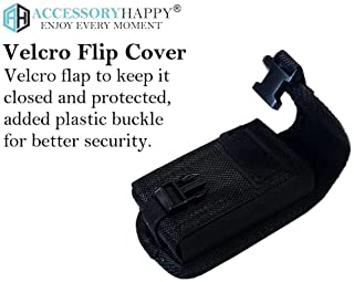 AH Heavy Duty Flip Cell Phone Case, Rugged Flip Phone Holster Clip Holder Phone Nylon Belt Loop Pouch Fits Kyocera Du...