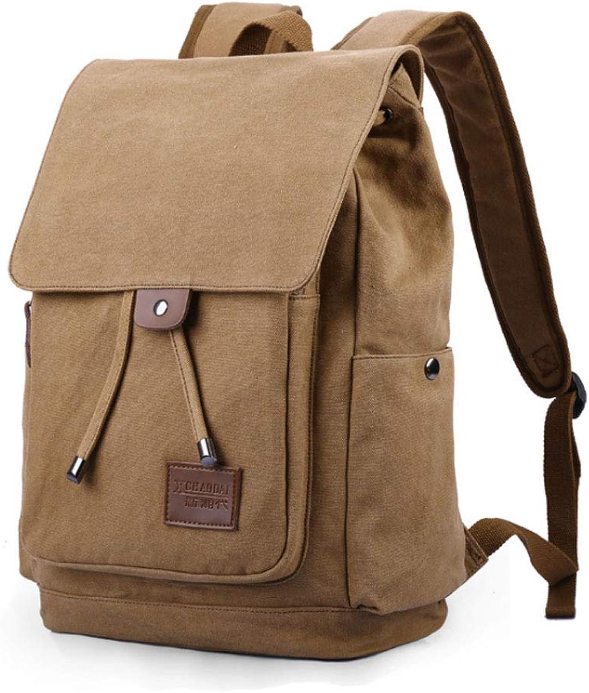 Rucksack Mode Lssig Rucksack Reise Leinwand Tasche Student Tasche Computer Tasche (Farbe   Khaki)